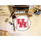 "27"" Round Houston Cougars Baseball Mat"