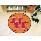 "27"" Round Houston Cougars Basketball Mat"