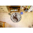 "Wyoming Cowboys 27"" Round Soccer Mat"