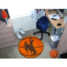 "Wyoming Cowboys 27"" Round Basketball Mat"
