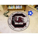 "27"" Round South Carolina Gamecocks Soccer Mat"