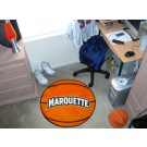 "27"" Round Marquette Golden Eagles Basketball Mat"