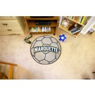 "27"" Round Marquette Golden Eagles Soccer Mat"