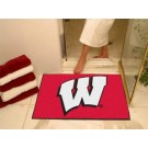 "Wisconsin Badgers ""W"" 34"" x 45"" All Star Floor Mat"