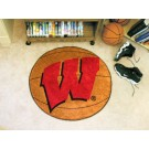 "Wisconsin Badgers ""W"" 27"" Round Basketball Mat"