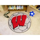"Wisconsin Badgers ""W"" 27"" Round Soccer Mat"