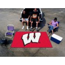 "Wisconsin Badgers ""W"" 5' x 8' Ulti Mat"