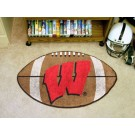 "Wisconsin Badgers ""W"" 22"" x 35"" Football Mat"