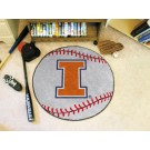 "27"" Round Illinois Fighting Illini Baseball Mat"