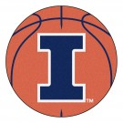 "27"" Round Illinois Fighting Illini Basketball Mat"