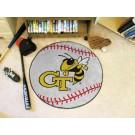 """27"""" Round Georgia Tech Yellow Jackets Baseball Mat"""