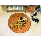 "27"" Round Georgia Tech Yellow Jackets Basketball Mat"