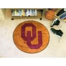 "27"" Round Oklahoma Sooners Basketball Mat"