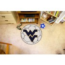 "27"" Round West Virginia Mountaineers Soccer Mat"
