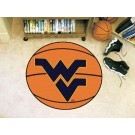 "27"" Round West Virginia Mountaineers Basketball Mat"