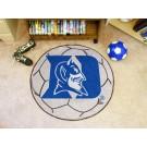"""27"""" Round Duke Blue Devils Soccer Mat"""