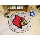 """27"""" Round Louisville Cardinals Soccer Mat"""