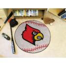 """27"""" Round Louisville Cardinals Baseball Mat"""
