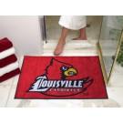 """34"""" x 45"""" Louisville Cardinals All Star Floor Mat"""