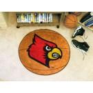 """27"""" Round Louisville Cardinals Basketball Mat"""
