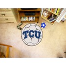 "27"" Round Texas Christian Horned Frogs Soccer Mat"