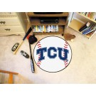 "27"" Round Texas Christian Horned Frogs Baseball Mat"