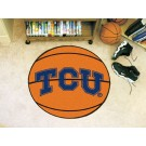 "27"" Round Texas Christian Horned Frogs Basketball Mat"