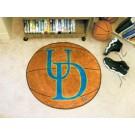 """27"""" Round Delaware Fightin' Blue Hens Basketball Mat"""