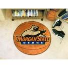 "27"" Round Morgan State Bears Basketball Mat"
