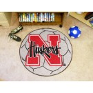 "27"" Round Nebraska Cornhuskers Soccer Mat"
