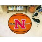 """29"""" Round Nicholls State University Colonels Basketball Mat"""