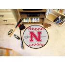 """29"""" Round Nicholls State University Colonels Baseball Mat"""