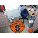 "27"" Round Syracuse Orange (Orangemen) Basketball Mat"