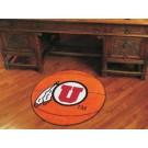 "27"" Round Utah Utes Basketball Mat"