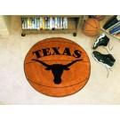 """27"""" Round Texas Longhorns Basketball Mat"""