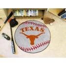 """27"""" Round Texas Longhorns Baseball Mat"""