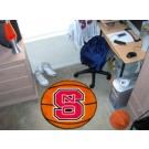 "27"" Round North Carolina State Wolfpack Basketball Mat"