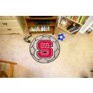 "27"" Round North Carolina State Wolfpack Soccer Mat"