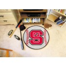 "27"" Round North Carolina State Wolfpack Baseball Mat"