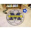 "27"" Round Michigan Wolverines Soccer Mat"