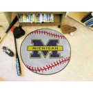 "27"" Round Michigan Wolverines Baseball Mat"