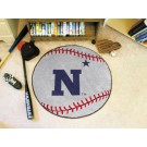 "27"" Round Navy Midshipmen Baseball Mat"