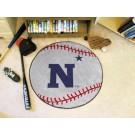 "27"" Round Navy Midshipmen Baseball Mat"