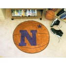 "27"" Round Navy Midshipmen Basketball Mat"