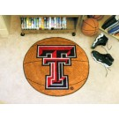 "27"" Round Texas Tech Red Raiders Basketball Mat"