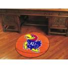 """27"""" Round Kansas Jayhawks Basketball Mat"""