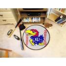 """27"""" Round Kansas Jayhawks Baseball Mat"""