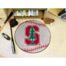 """27"""" Round Stanford Cardinal Baseball Mat"""