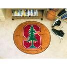 "27"" Round Stanford Cardinal Basketball Mat"