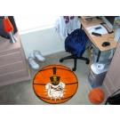 "27"" Round Citadel Bulldogs Basketball Mat"
